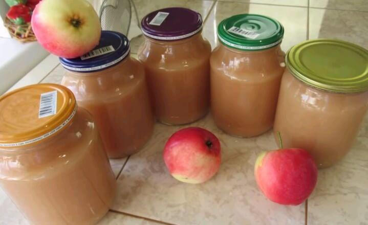 Пюре из яблок без сахара на зиму пошаговый рецепт быстро и просто от ирины наумовой