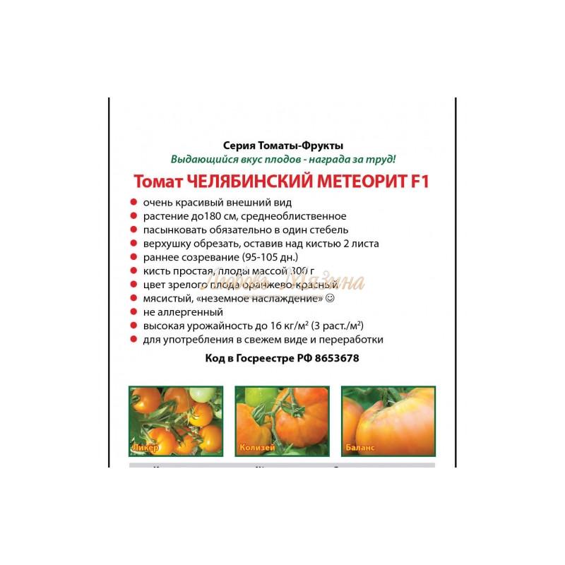 Описание томата челябинский метеорит, агротехника выращивания и уход
