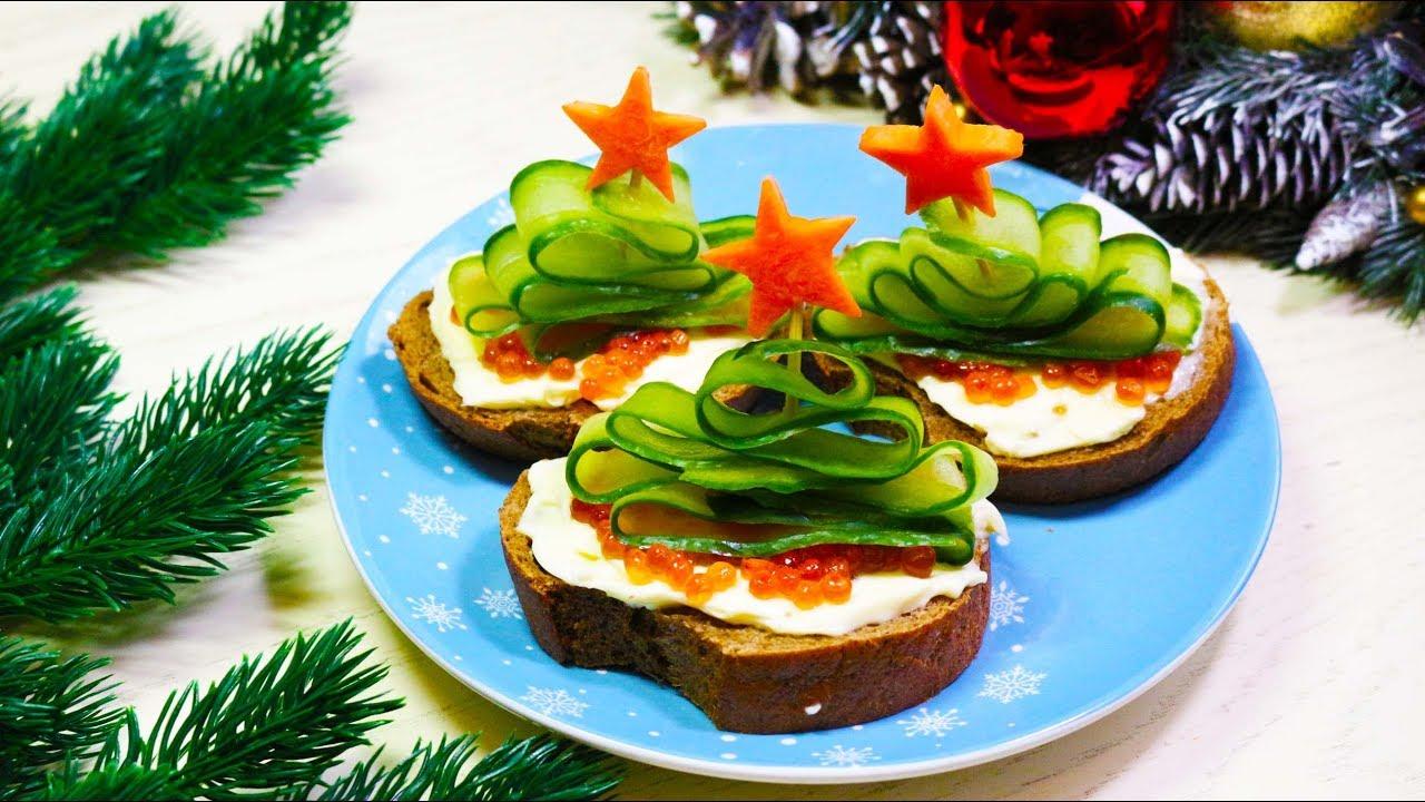 Бутерброды на новый год 2021 — 14 простых вкусных рецептов с фото и видео