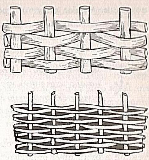Как сделать плетеный забор - декоративный плетень своими руками | стройсоветы