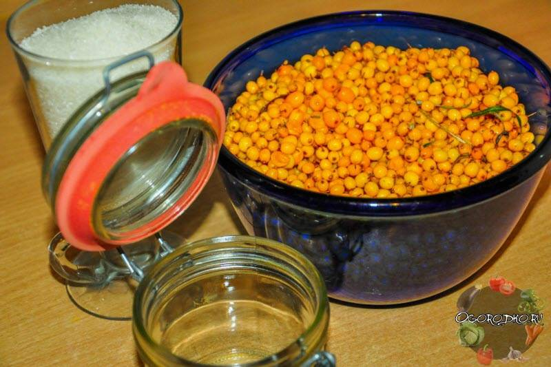 Рецепт облепихи с сахаром на зиму