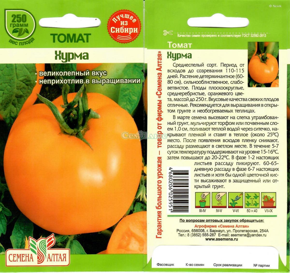 Томат хурма - характеристика и описание сорта, урожайность, фото, выращивание, отзывы