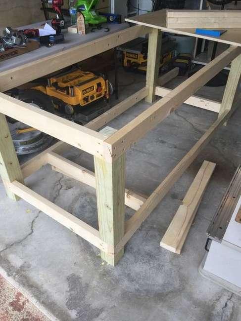 Изготовление деревянного верстака своими руками