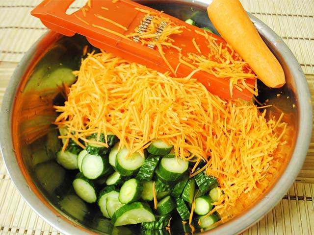 Салат на зиму огурцы по корейски – оптимальное сочетание вкусных овощей для зимнего употребления: рецепт с фото и видео