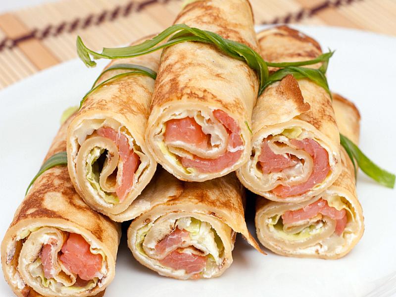 Французские блинчики с ветчиной сыром и яйцом - ijuls.com