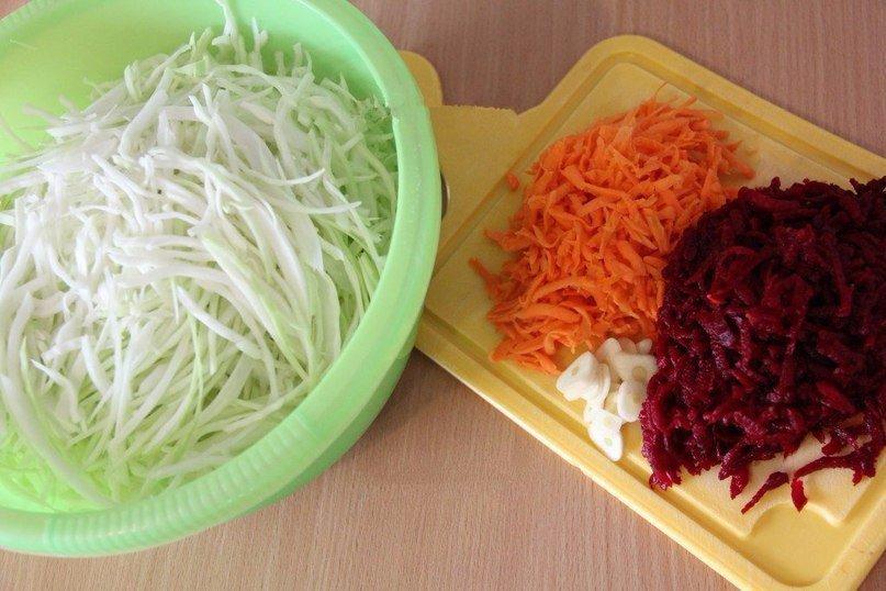 Маринованная капуста со свеклой быстрого приготовления: рецепты с фото и видео