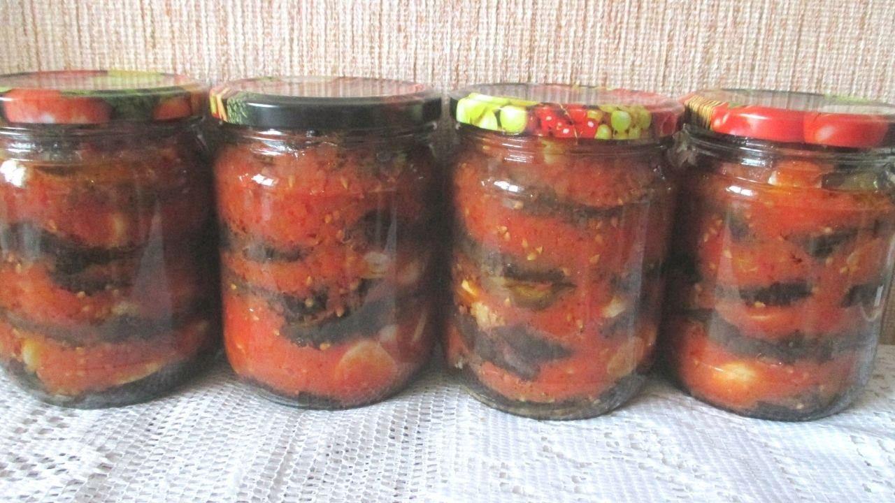 Консервированные баклажаны в томатном соусе — рецепты заготовок на зиму