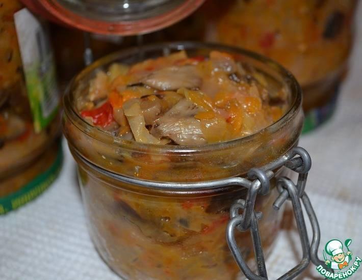 Грибная солянка с капустой на зиму — пошаговый рецепт с фото