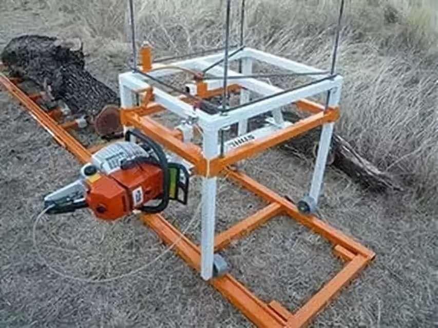 Как изготовить мобильную или стационарную пилораму из бензопилы своими руками