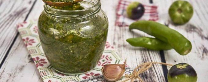 Аджика из зеленых помидор на зиму объедение: 9 лучших рецептов приготовления