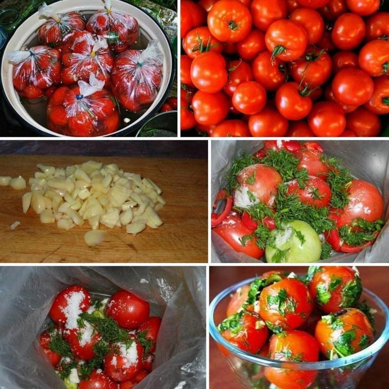 Малосольные помидоры в пакете и кастрюле: рецепты приготовления за 5 минут