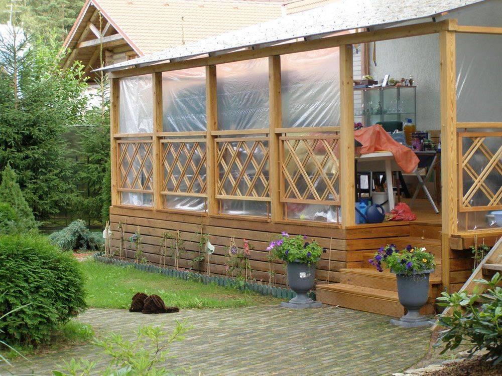 Инструкция и фото постройки веранды или террасы своими руками на даче