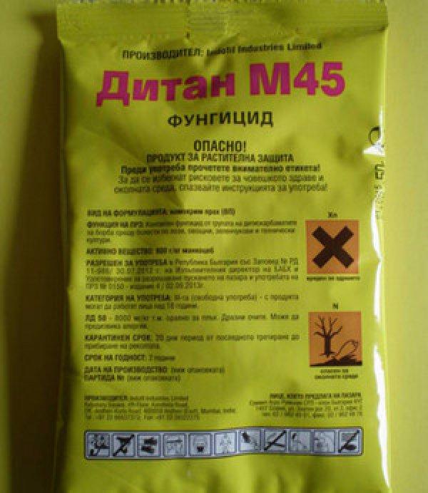 Инструкция по применению Дитана М-45 и состав фунгицида, дозировка и аналоги
