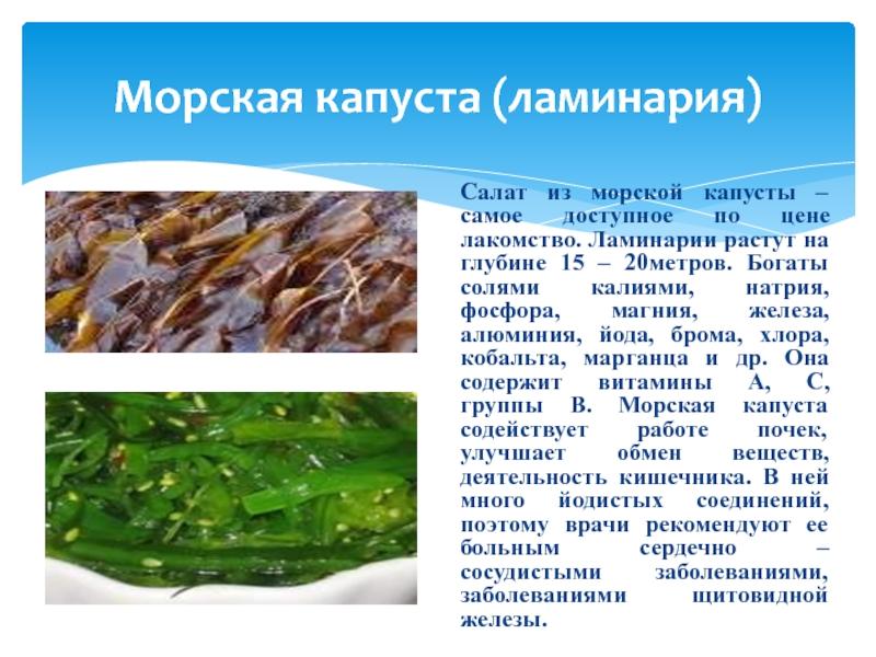 Морская капуста при беременности: польза и вред, советы по использованию - spuzom.com