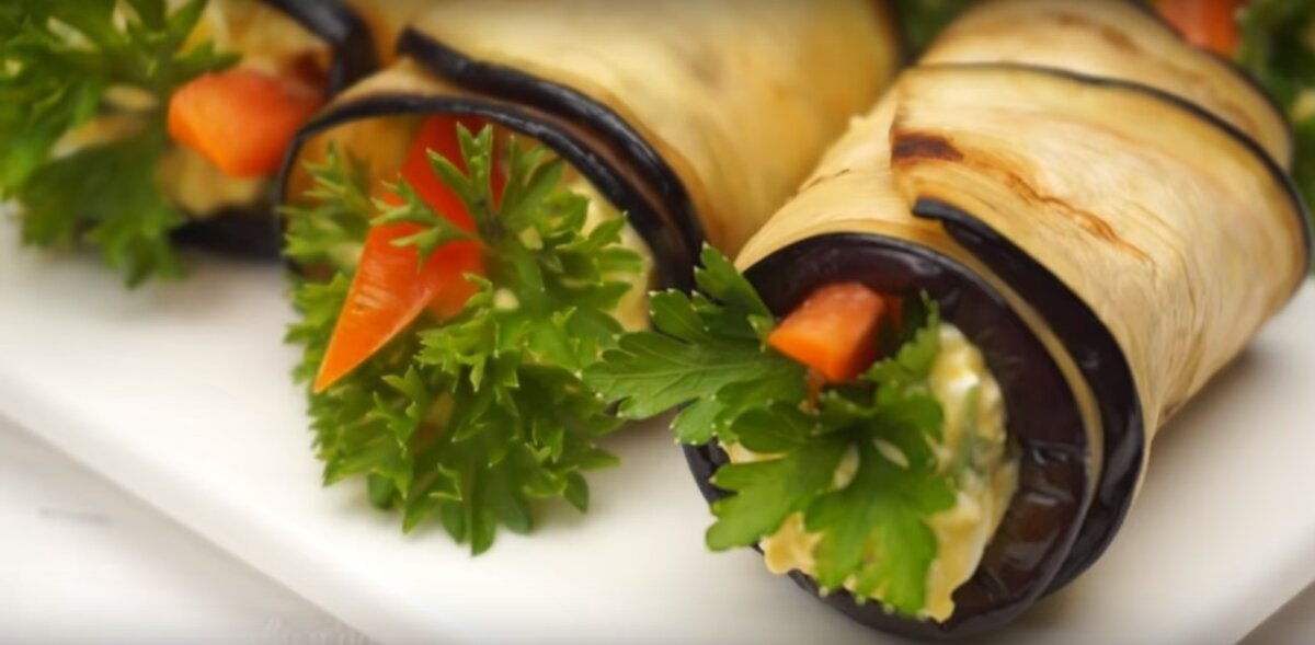 Рецепты рулетиков из баклажан с разными начинками с фото: лучшее – рецепты с фото