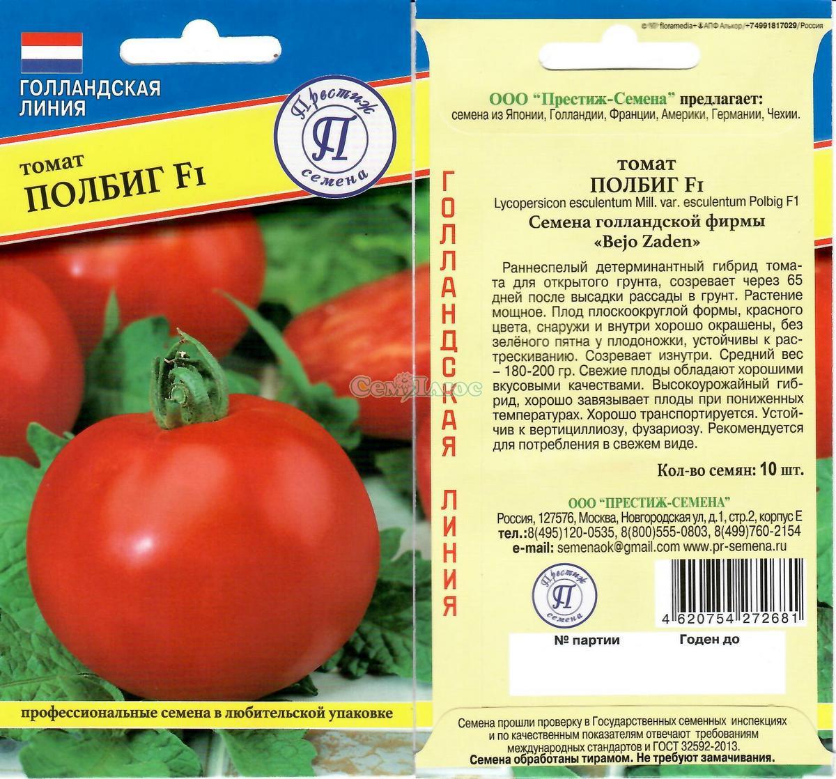 Томат полбиг f1 - описание сорта, характеристика, урожайность, отзывы, фото