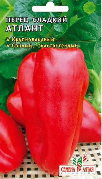 Перец атлант: описание сорта, фото, отзывы, характеристика плодов, урожайность