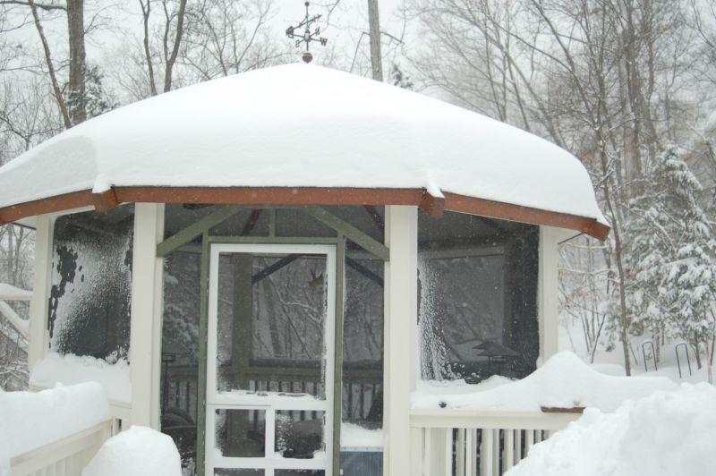 Теплые зимние беседки для дачи