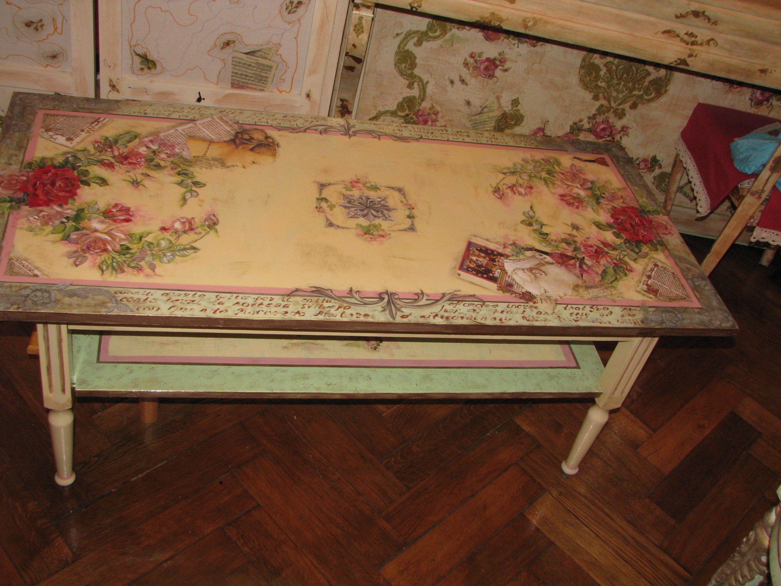 Декупаж старой мебели в стиле Прованс: мастер класс