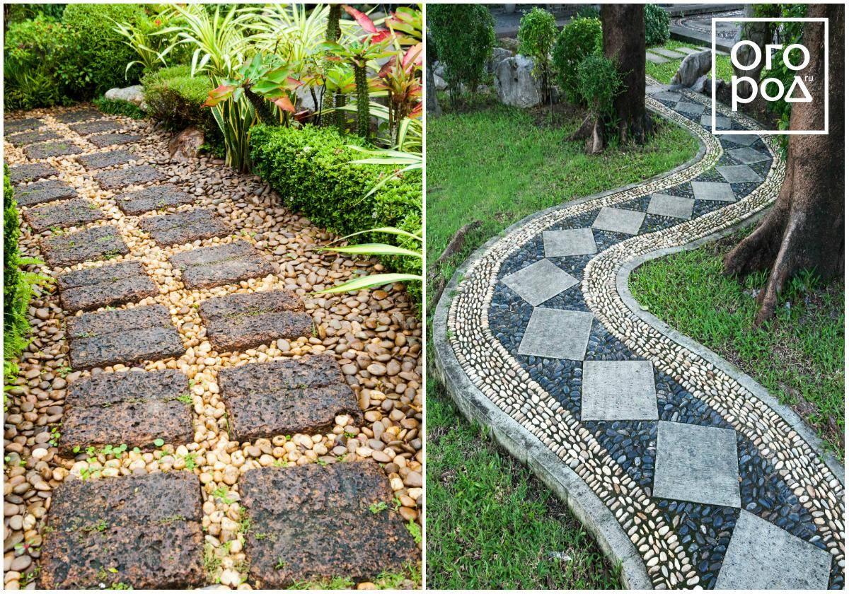 Садовые дорожки из камня своими руками: пошаговые фото, мастер-классы + 500 фото