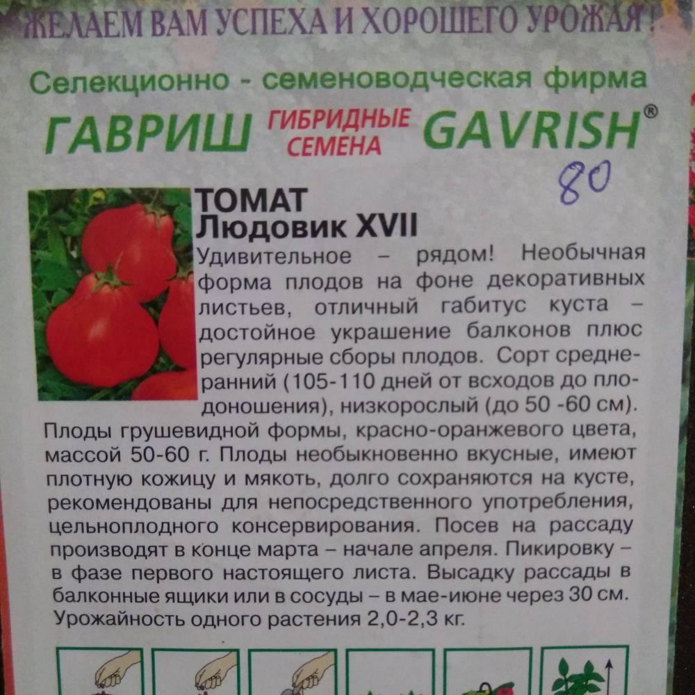 Описание сорта томата людовик 17, особенности выращивания и ухода – дачные дела