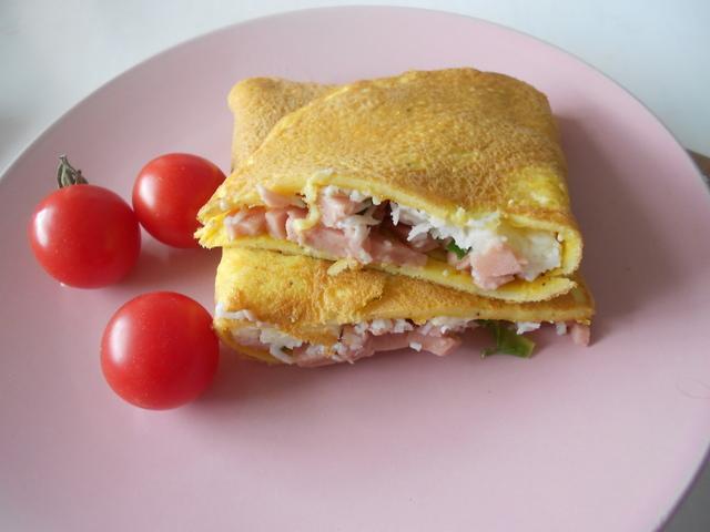 Блины с ветчиной и сыром рецепт с фото пошагово - 1000.menu