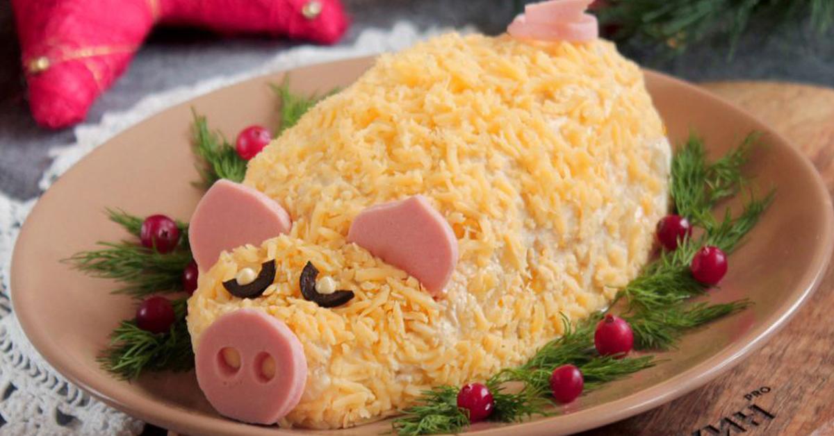 Салаты на новый 2019 год, простые и вкусные рецепты с фото, что готовить из салатов новое и интересное в год свиньи