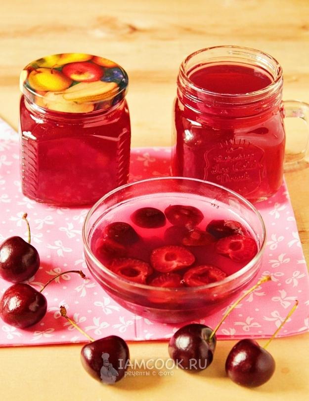 Рецепты приготовления вишневого желе на зиму с желатином