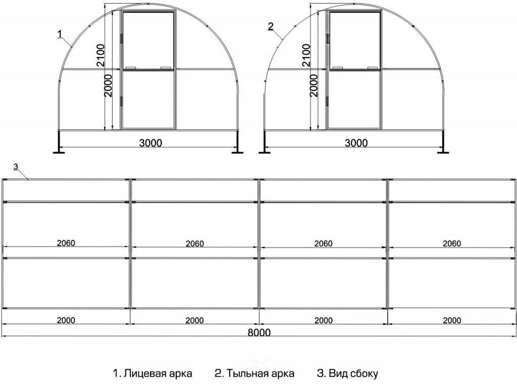 Пошаговая инструкция по сборке теплицы из профильной трубы своими руками + схемы и чертежи