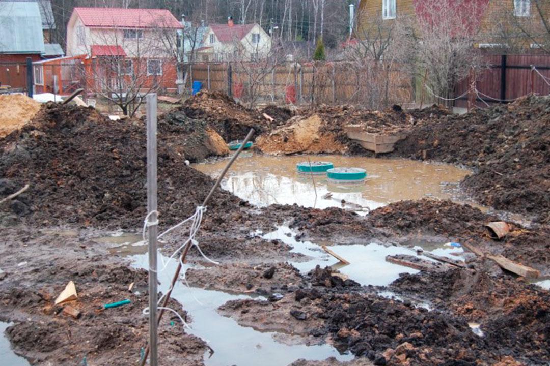 Фундамент при высоком уровне грунтовых вод: какой нужно делать