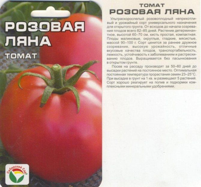 Томат ляна: урожайность. характеристика и описание сорта