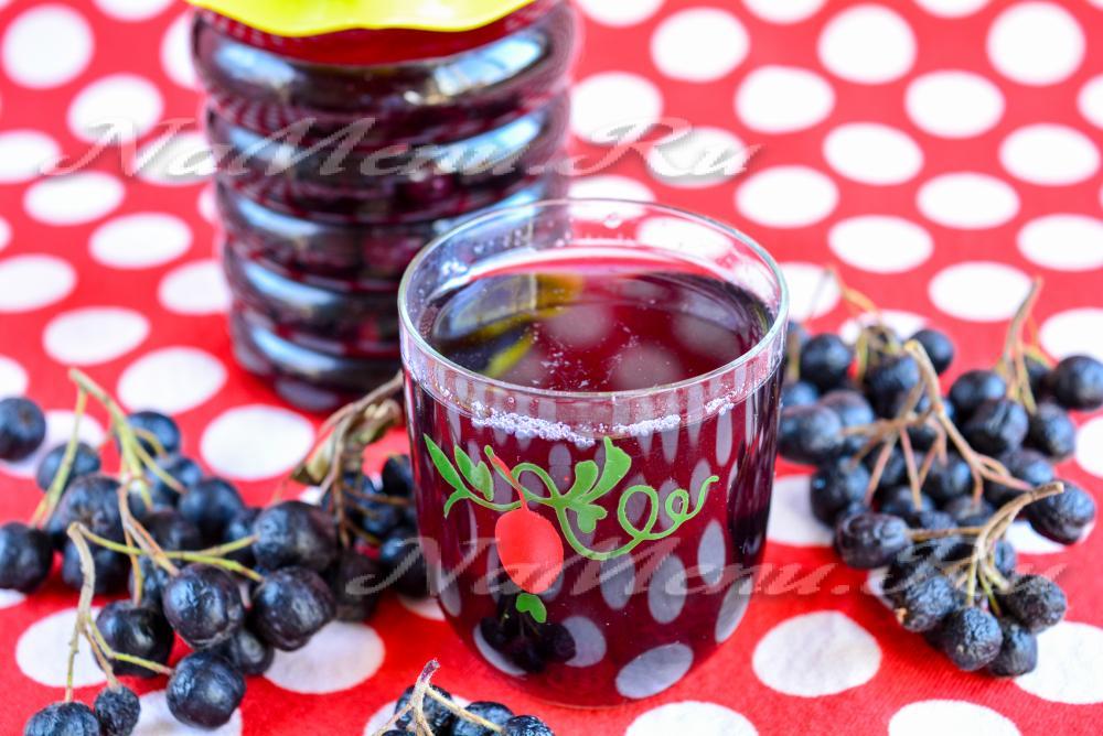 Рецепты из черноплодной рябины на зиму: без сахара, компот, сок