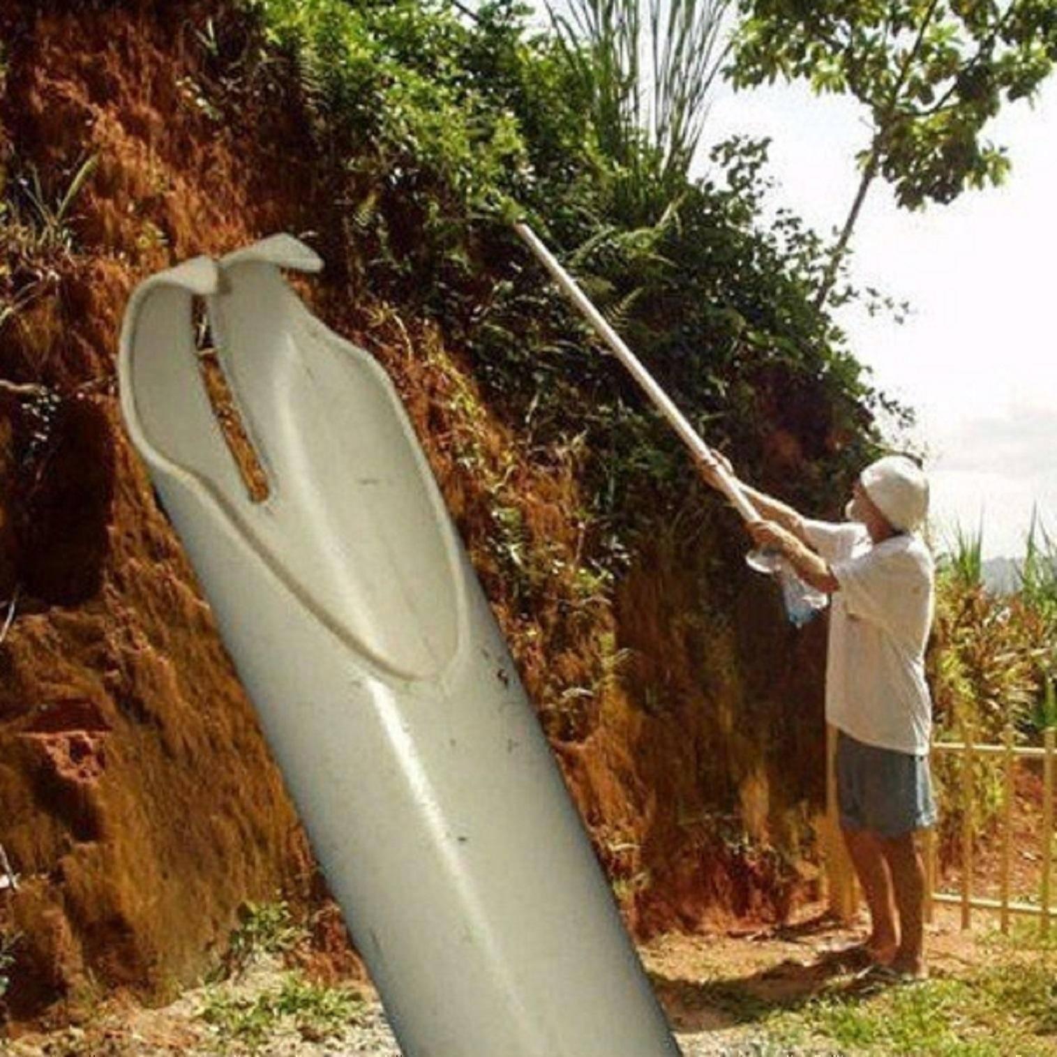 Самодельное приспособление для сбора орехов с деревьев