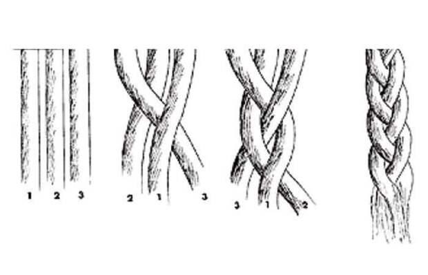 Как вязать косу из чеснока: видео