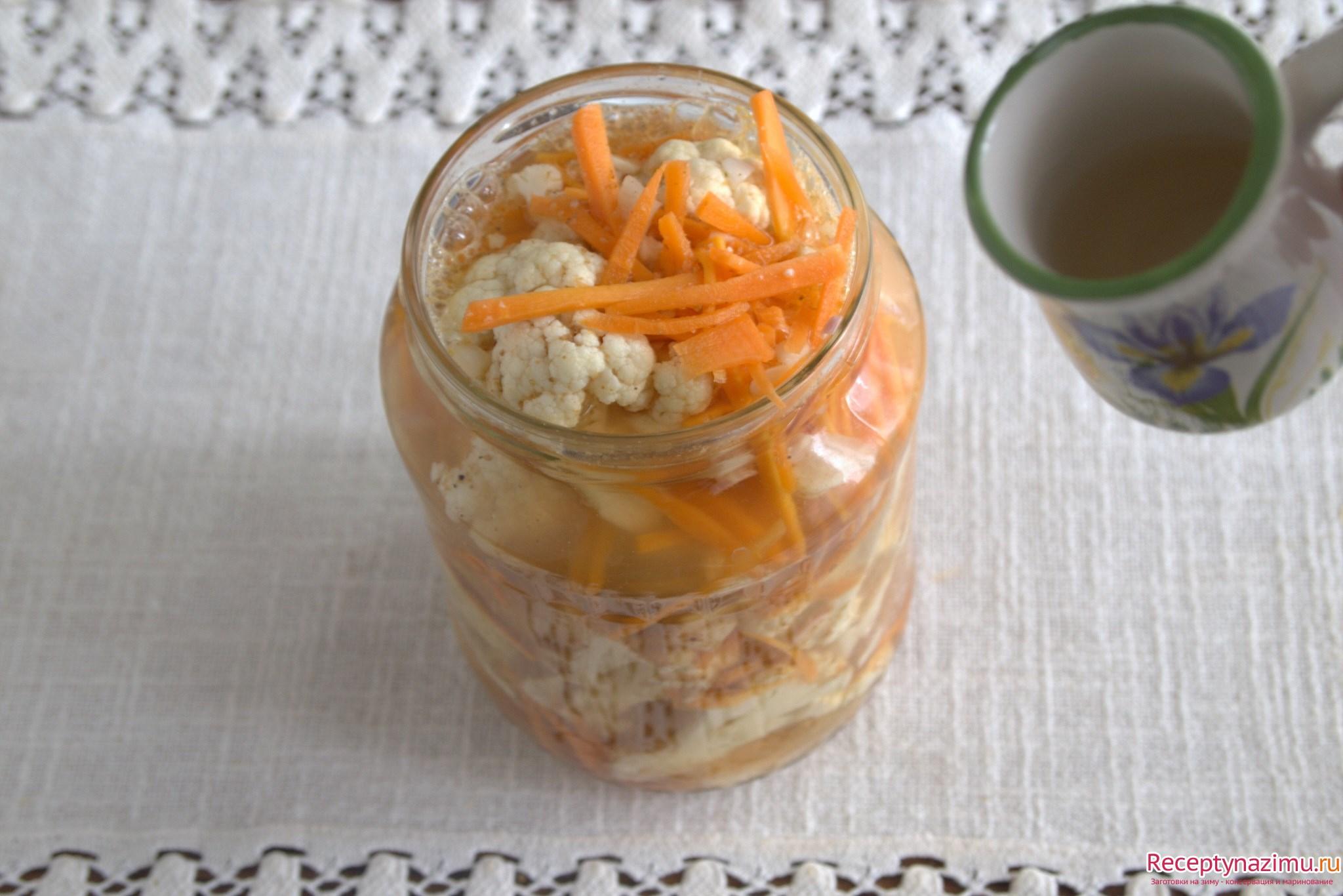Цветная капуста маринованная по-корейски: калорийность, польза и вред этого блюда, а также домашний рецепт для быстрого приготовления русский фермер