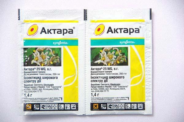 Актара – инструкция по применению для плодовых деревьев