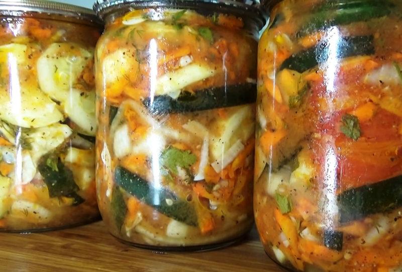 Быстрые маринованные кабачки по-корейски (закуска)