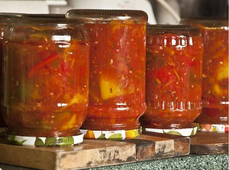 Лечо на зиму из перца моркови и лука с томатной пастой -пальчики оближешь!