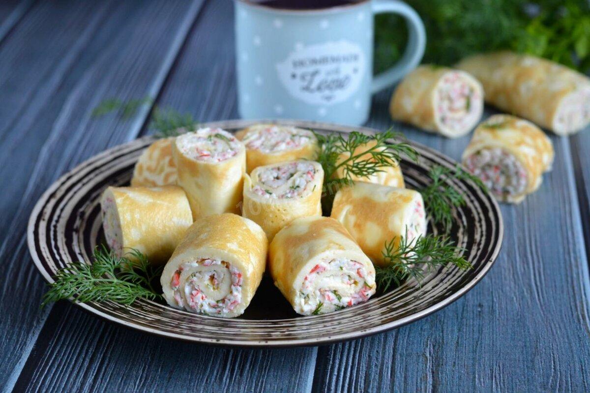 Блинчики с ветчиной и сыром рецепт с фото