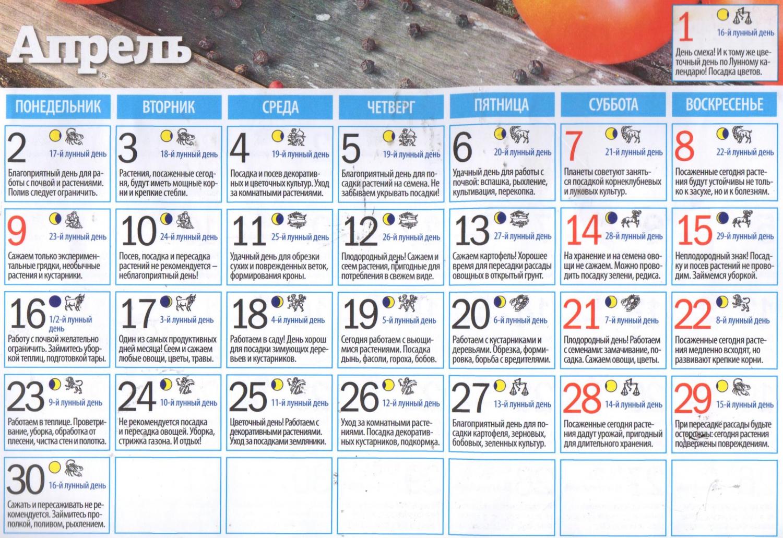 Лунный посевной календарь садовода, огородника и цветовода на 2021 год
