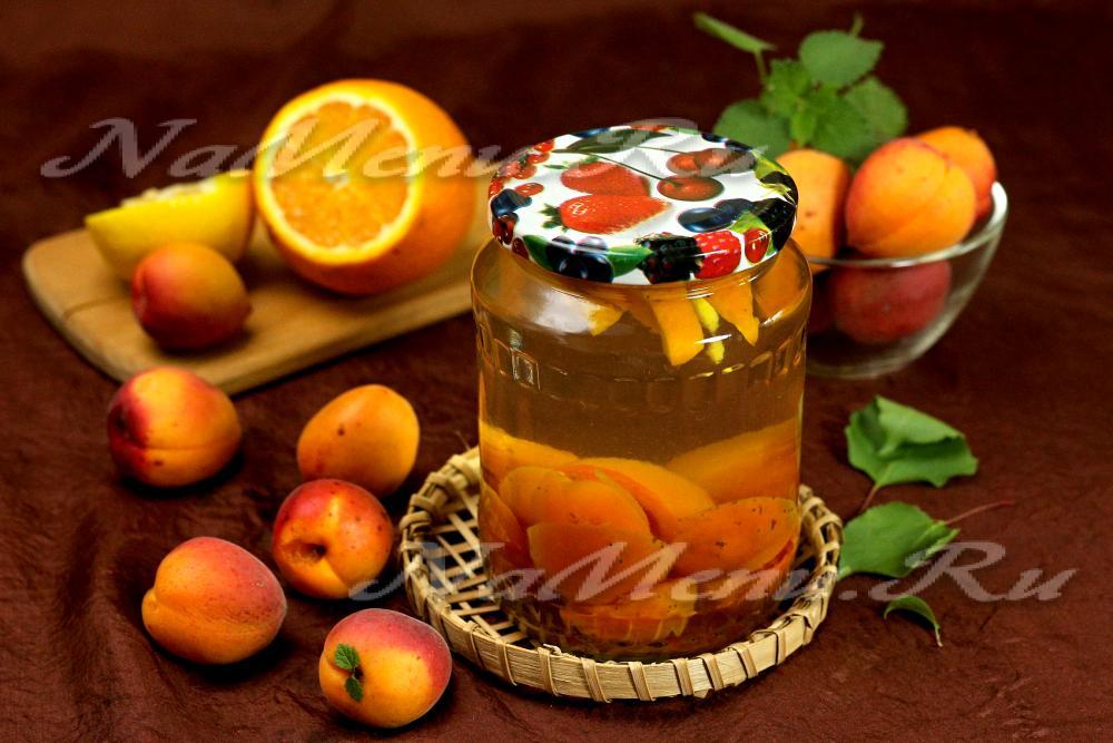 Топ 6 рецептов компота как фанта из абрикосов и апельсинов на зиму