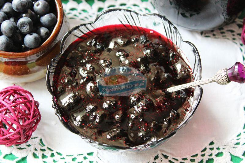 Варенье из черники  пятиминутка  - рецепт с фото пошагово