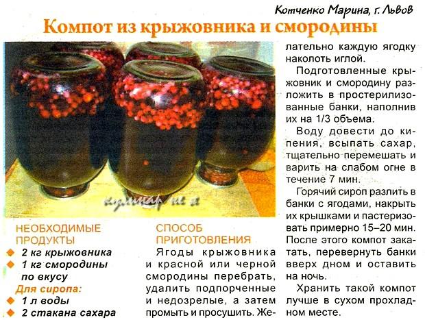 4 лучших рецепта приготовления компота из красной и черной смородины