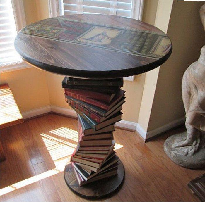 Мебель из книг: креативные идеи для вашего дома