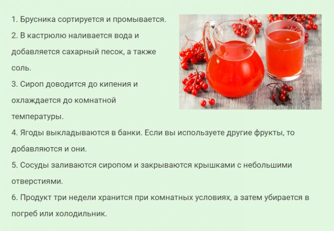 Брусника в сиропе на зиму без варки: 3 простых рецепта приготовления заготовки