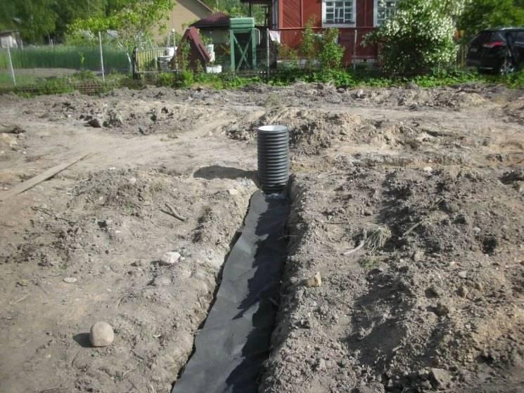 Как осушить земельный участок от грунтовых вод