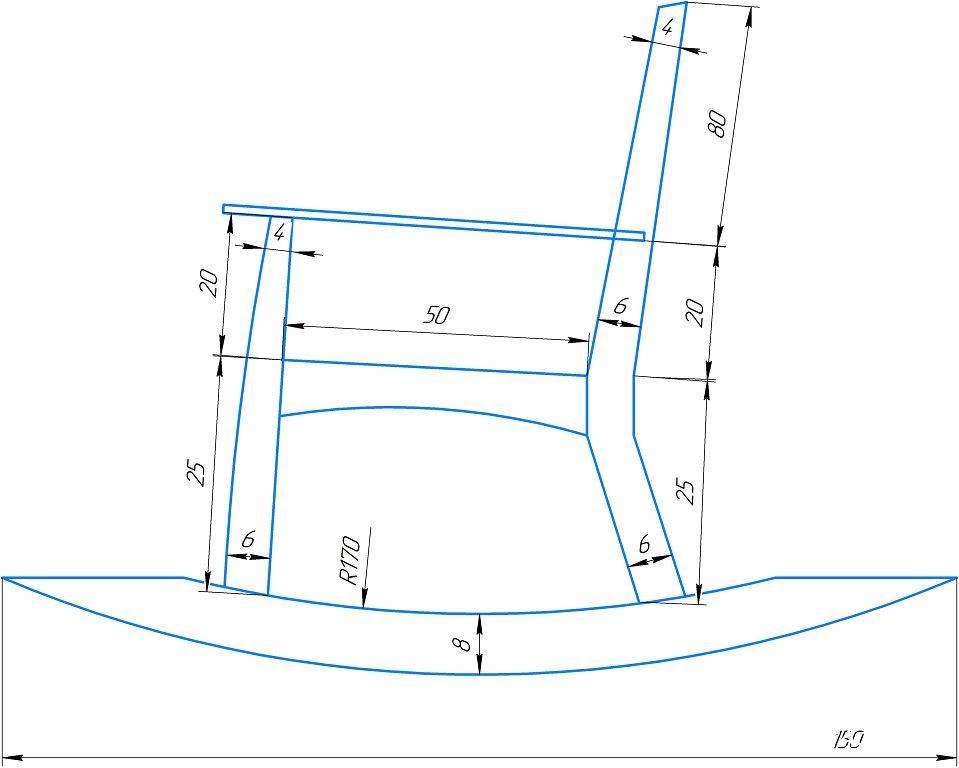 Идеи по изготовлению кресла-качалки для дачи своими руками