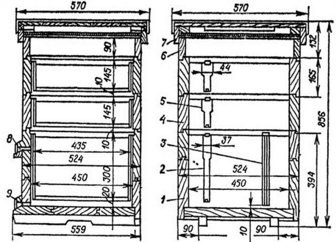 Рамки для ульев: виды и размеры. чертежи для изготовления своими руками экспериментальных рамок для пчелиных ульев