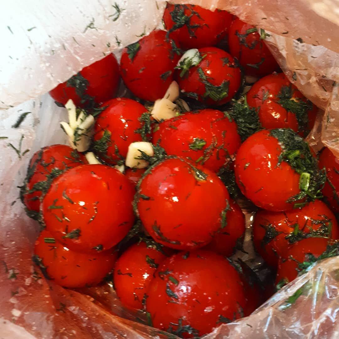 Малосольные помидоры в пакете. быстрый рецепт за 5 минут
