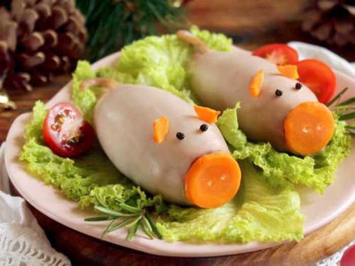 Салат в виде свиньи на новый год – лучшие новогодние рецепты к 2019 году